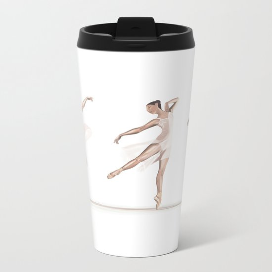 Ballet Dance Moves Metal Travel Mug