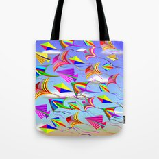 Kites Rainbow Colors in the Wind Tote Bag