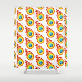 Critical Hit - White Shower Curtain