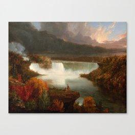 Distant View of Niagara Falls,1830, Thomas Cole Canvas Print
