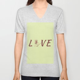 Love Sew Sewing Is Life Unisex V-Neck