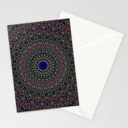 Colorful Sacred Kaleidoscope Mandala Stationery Cards
