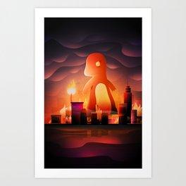 King of monster Art Print