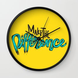 Make The Difference Wall Clock