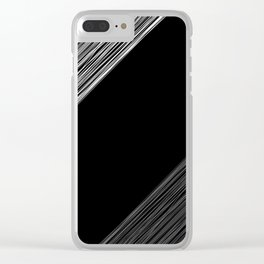 Black white pattern 4 Clear iPhone Case