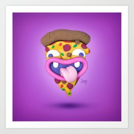 The almighty slice of pizza Art Print