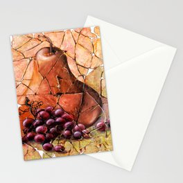 Pear & Grapes Fresco Stationery Cards