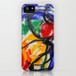 Space Travel Abstract Painting iPhone Case