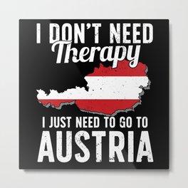 Austria flag I Austrian Souvenirs Metal Print