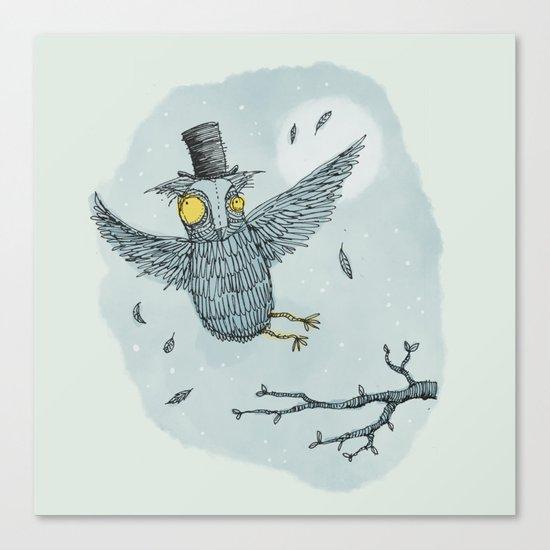 'Mr Owl' Canvas Print