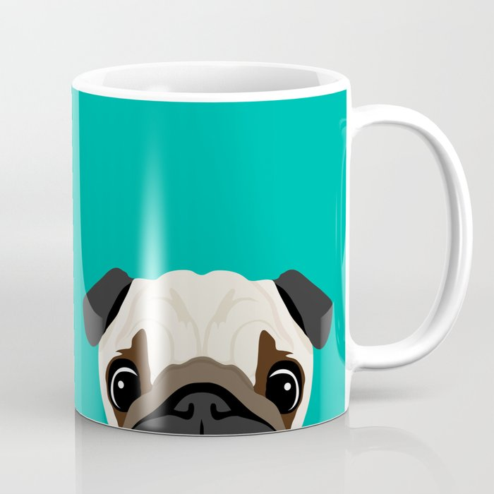 Peeking Pug Coffee Mug
