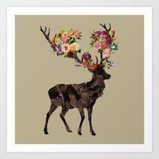 Spring Itself Deer Flower Floral Tshirt Floral Print Gift Art Print