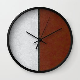 Marble Leaves Wall Clock