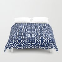 aelwen Duvet Covers featuring Blue by Shelly Bremmer
