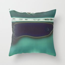 Instang Abstraction in Teal Throw Pillow