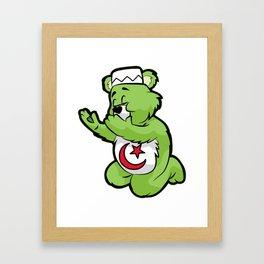 MUSLIM PRAYING TEDDY Islam Prayer Allah Quran gift Framed Art Print