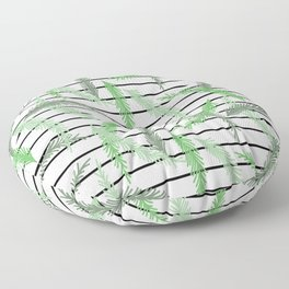 Stripes and Sprigs Floor Pillow