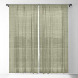 Tissu d'écorce Olive Sheer Curtain