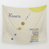 solar system Wall Tapestries featuring Solar System by avoid peril