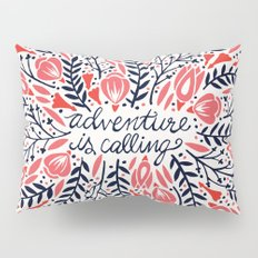 Adventure is Calling – Red & Black Palette Pillow Sham