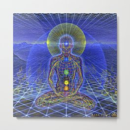 alex grey buddha 2020 design baukencur Metal Print