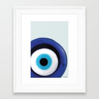 evil eye Framed Art Prints featuring Evil Eye by SalbyN
