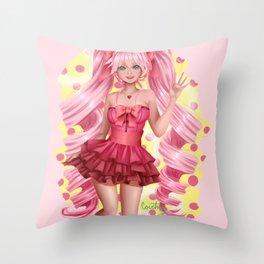 Cute & Pink Throw Pillow