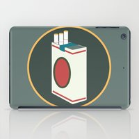 cigarette iPad Cases featuring cigarette by Simon Khoo's Illustration