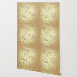 Roses in vintage style with texture Wallpaper