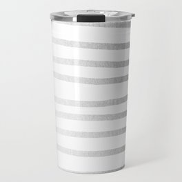 Simply Drawn Stripes Moonlight Silver Travel Mug