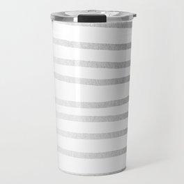 Simply Drawn Stripes Moonlight Silver Travel Mug