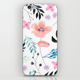 Sweet Floral Watercolor iPhone Skin
