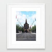 medieval Framed Art Prints featuring medieval glasgow by seb mcnulty
