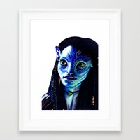avatar Framed Art Prints featuring AVATAR by csmithart