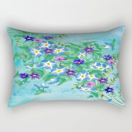 Watercolor Spring Bouquet  Rectangular Pillow