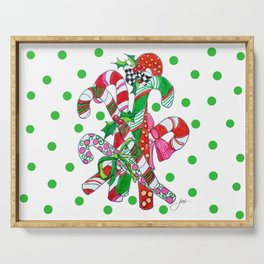 Candy Cane Party Serving Tray