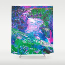 Psychedelic Falls Shower Curtain