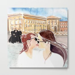 Kissing In Front Of The Clergy Metal Print