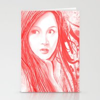 blood Stationery Cards featuring Blood by denzmoon