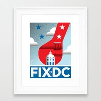 dc Framed Art Prints featuring FIX DC by Christopher Dina