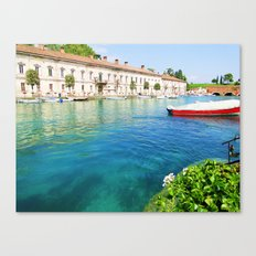 Small Red Boat Canvas Print
