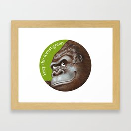 Keep the Forest Green_02 Framed Art Print