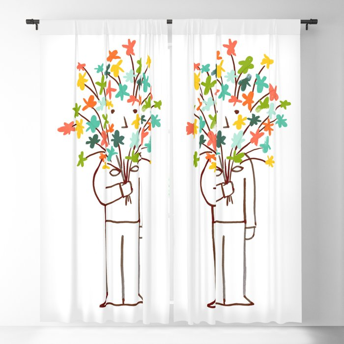 I bring flowers Blackout Curtain