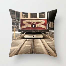 San Francisco Cable Car Throw Pillow