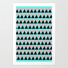 Electric Triangle  Art Print