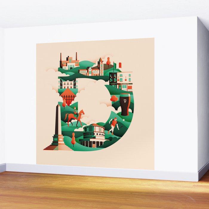 Wanderlust Alphabet – D is for Dublin Wall Mural