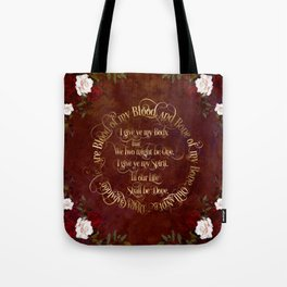 Outlander Wedding Vows Tote Bag