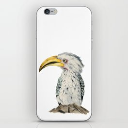Yellow-Billed Hornbill Watercolor Painting iPhone Skin