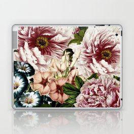 Vintage Peony and Ipomea Pattern - Smelling Dreams Laptop & iPad Skin