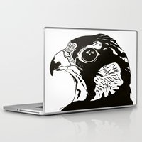 millenium falcon Laptop & iPad Skins featuring Falcon by Okes